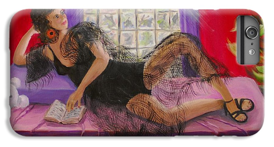 Woman IPhone 6 Plus Case featuring the painting Break Between Clients by Quwatha Valentine