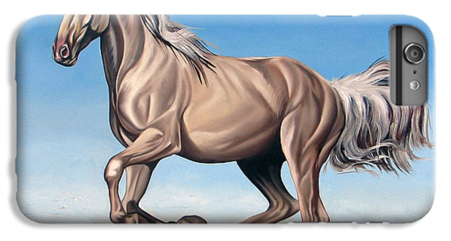 Horse IPhone 6 Plus Case featuring the painting Breeze by Ilse Kleyn
