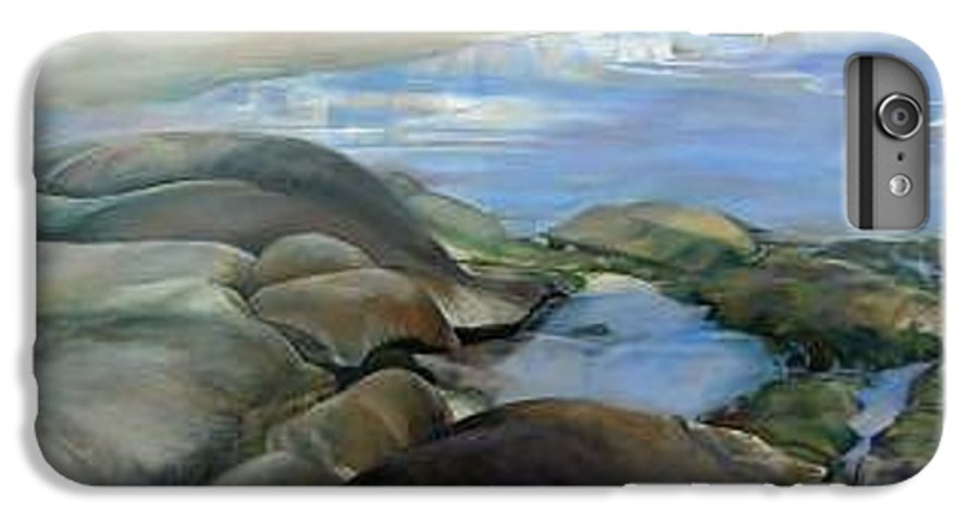 Paysage IPhone 6 Plus Case featuring the painting Bretagne 1 by Muriel Dolemieux