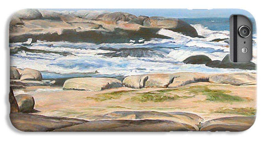Paysage IPhone 6 Plus Case featuring the painting Bretagne 2 by Muriel Dolemieux