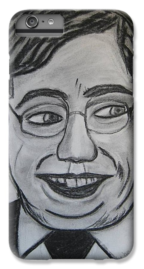 Art Artroger Roger Cummiskey Charcoal IPhone 6 Plus Case featuring the painting Brian Cowan by Roger Cummiskey