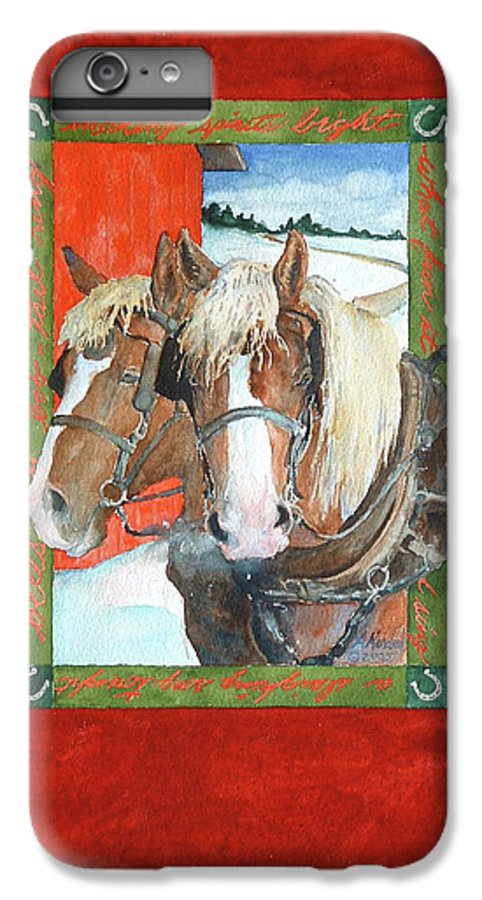 Horses IPhone 6 Plus Case featuring the painting Bright Spirits by Christie Michelsen