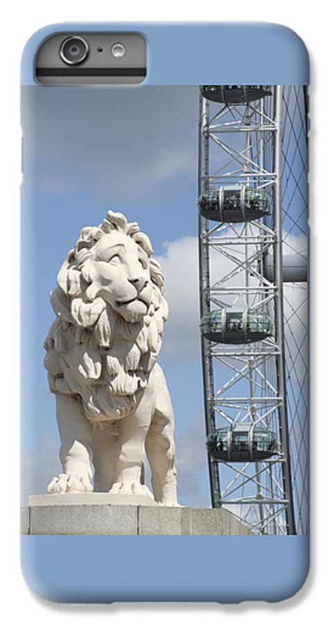 Lion IPhone 6 Plus Case featuring the photograph Britannia Lion by Margie Wildblood