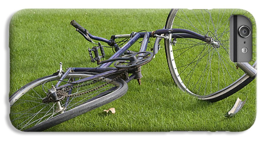 Wheel IPhone 6 Plus Case featuring the photograph Broken Bicycle by Carl Purcell
