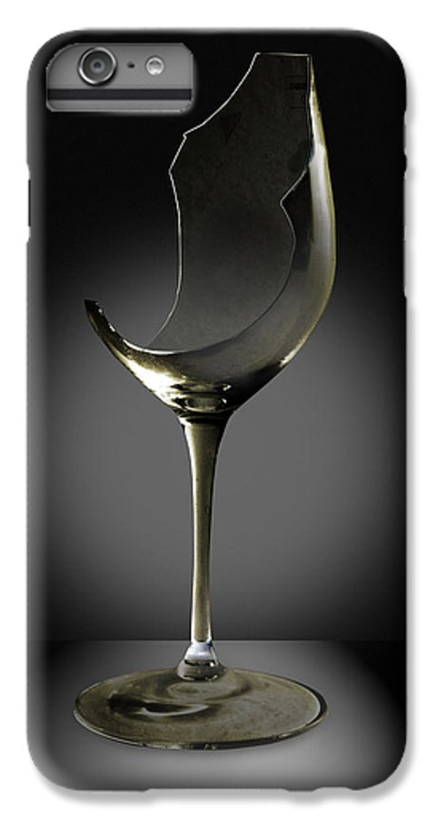 Glassware IPhone 6 Plus Case featuring the photograph Broken Wine Glass by Yuri Lev