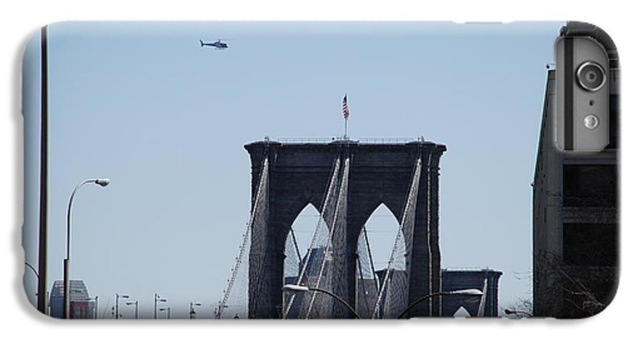 Architecture IPhone 6 Plus Case featuring the photograph Brooklyn Bridge by Rob Hans