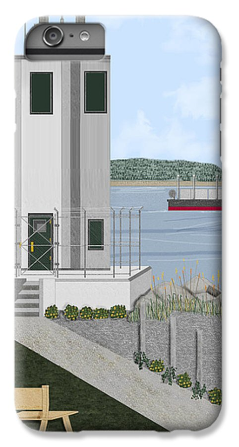Lighthouse IPhone 6 Plus Case featuring the painting Browns Point Lighthouse On Commencement Bay by Anne Norskog
