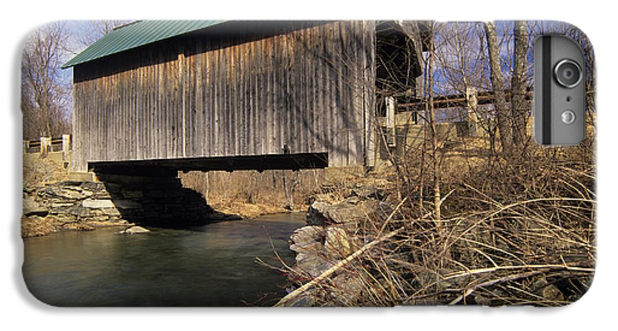 Bridge IPhone 6 Plus Case featuring the photograph Brownsville Covered Bridge - Brownsville Vermont by Erin Paul Donovan