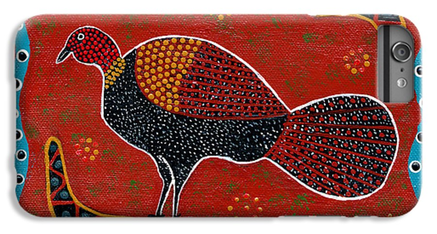 Brushturkey IPhone 6 Plus Case featuring the painting Brush Turkey by Clifford Madsen