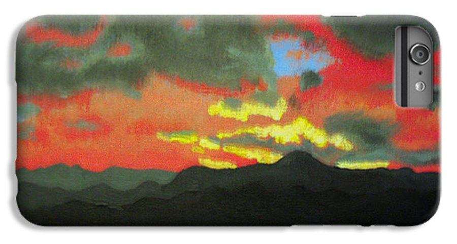 Sunset IPhone 6 Plus Case featuring the painting Buenas Noches by Marco Morales
