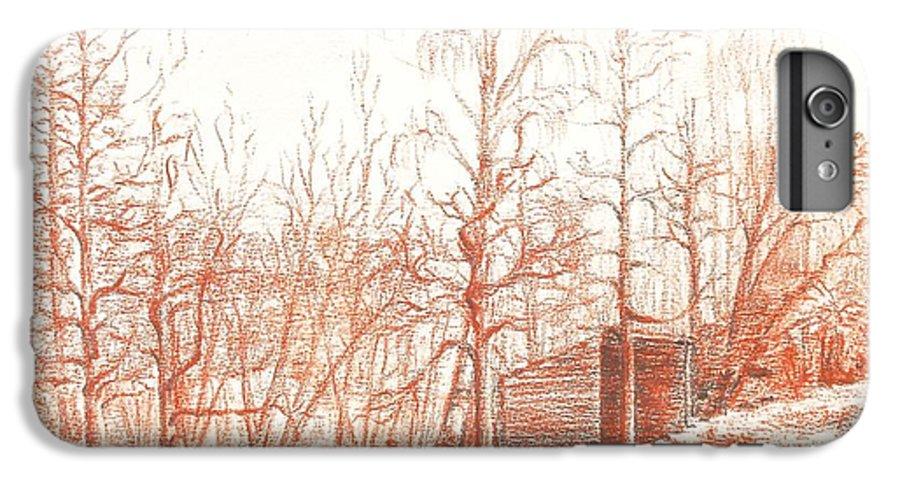 Landscape IPhone 6 Plus Case featuring the drawing Bullion by Muriel Dolemieux