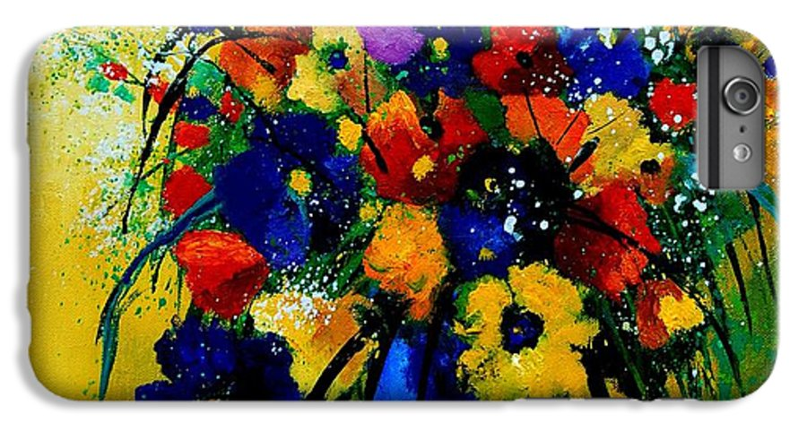 Poppies IPhone 6 Plus Case featuring the painting Bunch 0508 by Pol Ledent