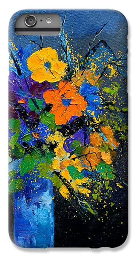 Poppies IPhone 6 Plus Case featuring the painting Bunch 1007 by Pol Ledent