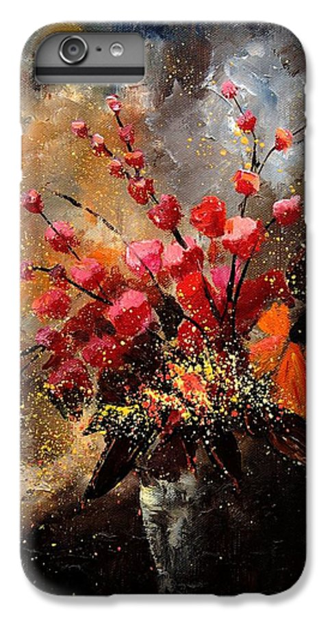 Poppies IPhone 6 Plus Case featuring the painting Bunch 1207 by Pol Ledent