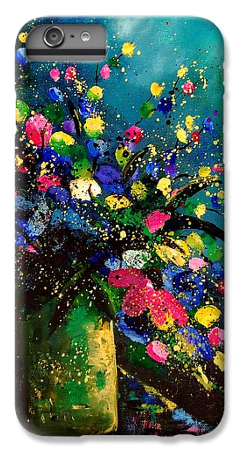 Poppies IPhone 6 Plus Case featuring the painting Bunch 45 by Pol Ledent