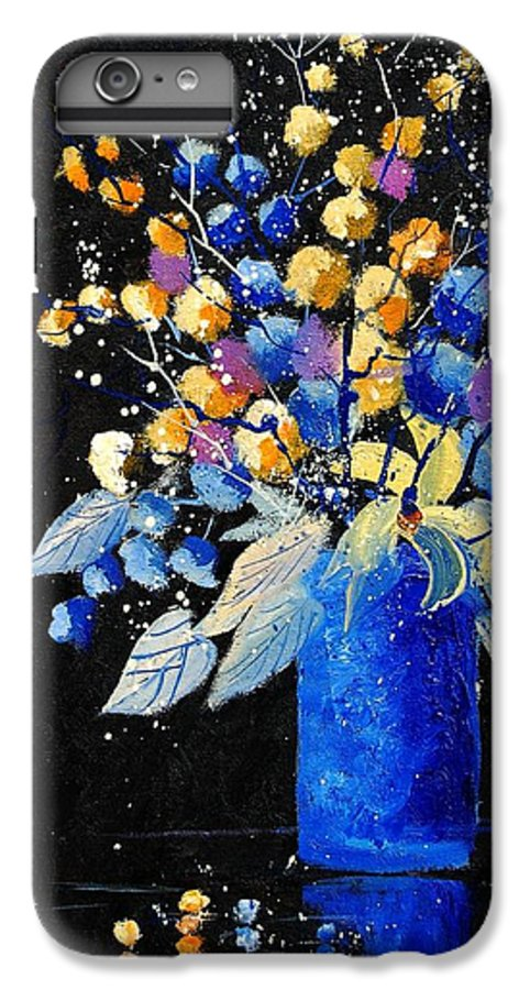 Flowers IPhone 6 Plus Case featuring the painting Bunch 451008 by Pol Ledent