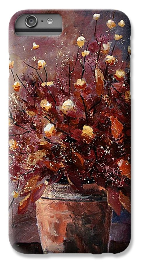 Poppies IPhone 6 Plus Case featuring the painting Bunch 56 by Pol Ledent