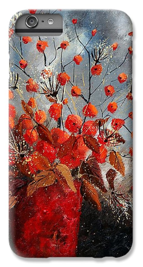 Flowers IPhone 6 Plus Case featuring the painting Bunch 560608 by Pol Ledent