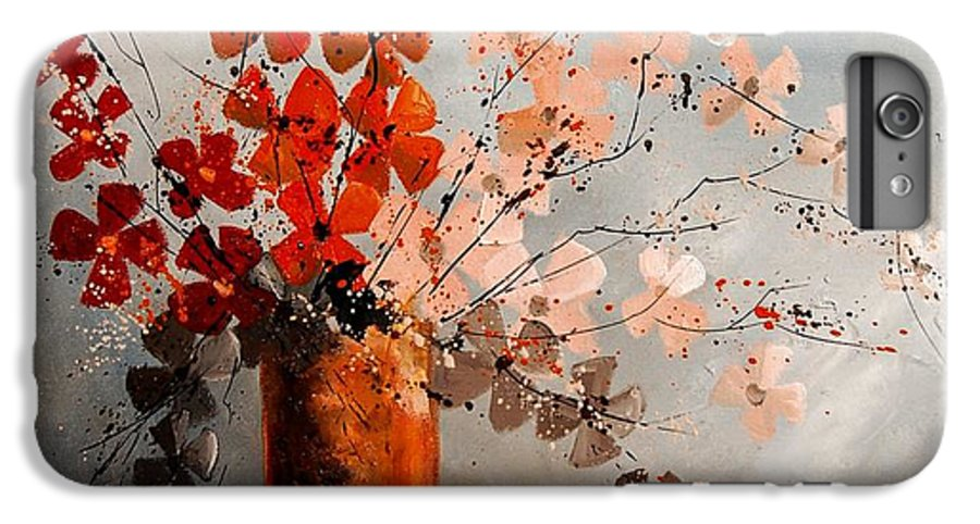 Flowers IPhone 6 Plus Case featuring the painting Bunch 670908 by Pol Ledent