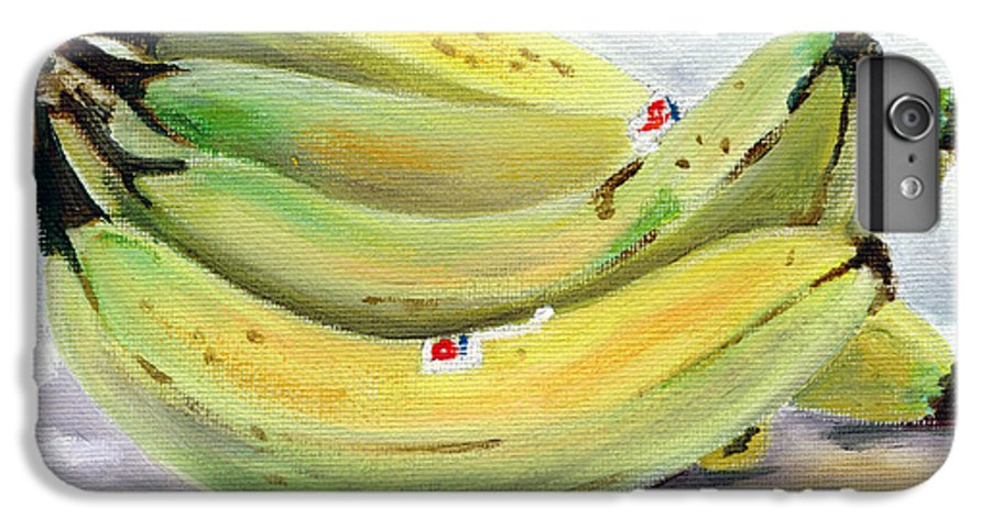 Still-life IPhone 6 Plus Case featuring the painting Bunch Of Bananas by Sarah Lynch