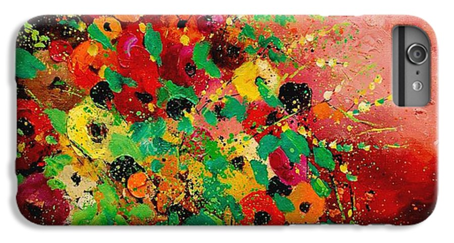 Flowers IPhone 6 Plus Case featuring the painting Bunch Of Flowers 0507 by Pol Ledent