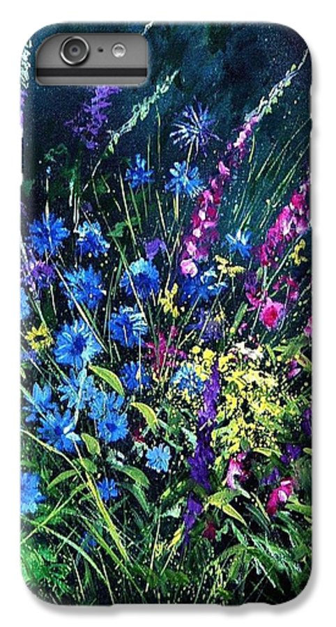 Poppies IPhone 6 Plus Case featuring the painting Bunch Of Wild Flowers by Pol Ledent