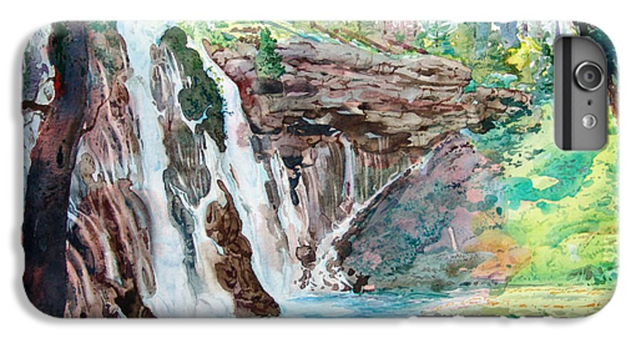 Watercolor IPhone 6 Plus Case featuring the painting Burney Falls by John Norman Stewart