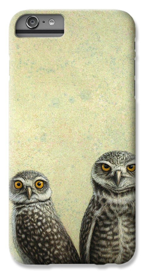 Owls IPhone 6 Plus Case featuring the painting Burrowing Owls by James W Johnson