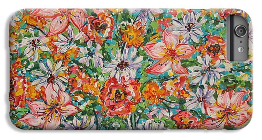 Flowers IPhone 6 Plus Case featuring the painting Burst Of Flowers by Leonard Holland