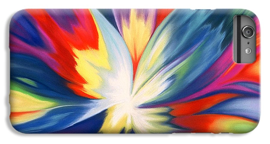 Abstract IPhone 6 Plus Case featuring the painting Burst Of Joy by Lucy Arnold