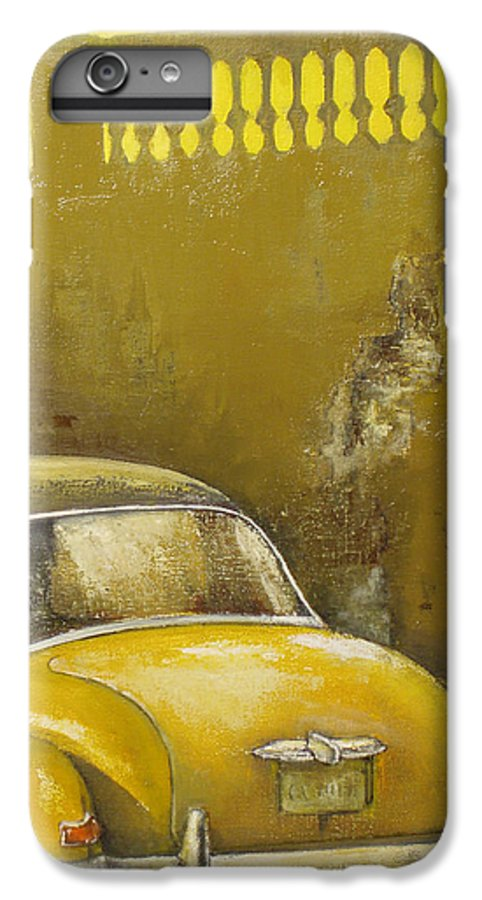 Havana IPhone 6 Plus Case featuring the painting Buscando La Sombra by Tomas Castano