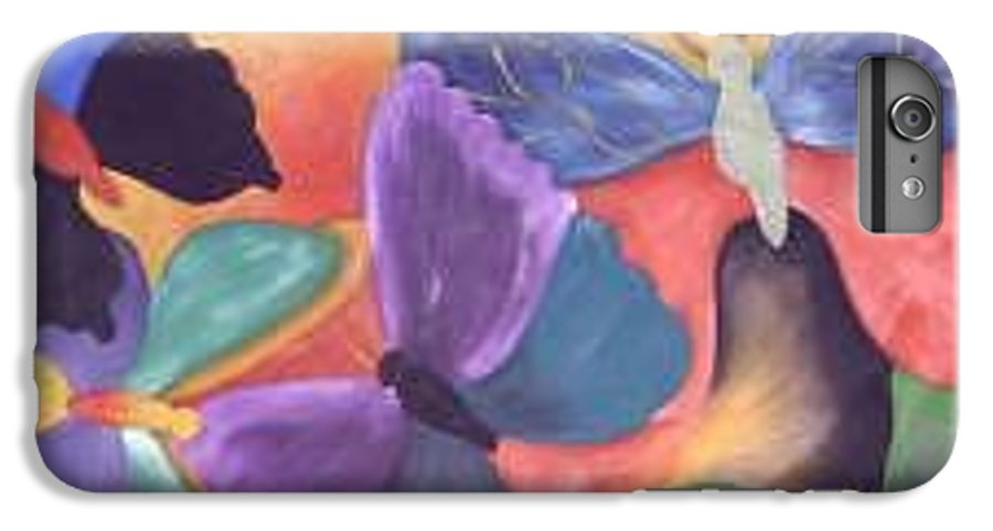 Butterfly Painting With Focus On Colors IPhone 6 Plus Case featuring the painting Butterfly Painting by M Brandl
