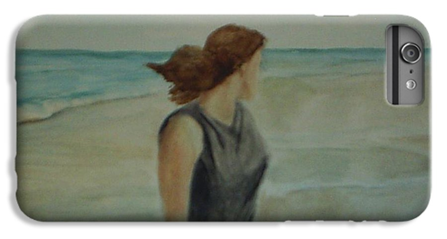 Ocean IPhone 6 Plus Case featuring the painting By The Sea by Sheila Mashaw