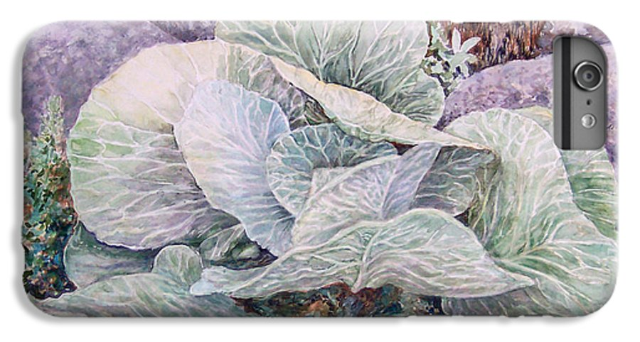 Leaves IPhone 6 Plus Case featuring the painting Cabbage Head by Valerie Meotti