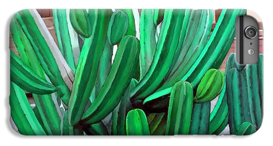 Landscape IPhone 6 Plus Case featuring the painting Cactus Fly By by Snake Jagger