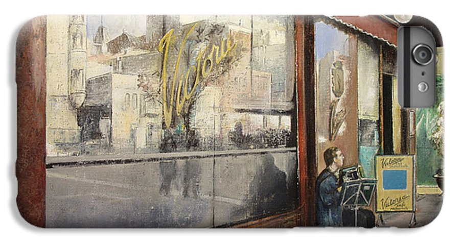 Cafe IPhone 6 Plus Case featuring the painting Cafe Victoria by Tomas Castano