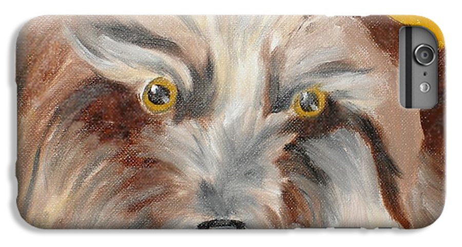 Dog IPhone 6 Plus Case featuring the painting Cairn Terrier by Susan Kubes