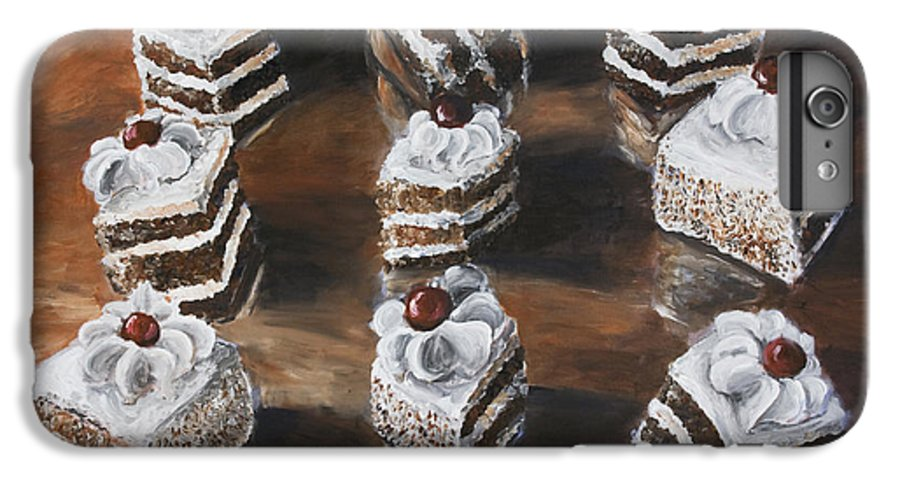 Cake IPhone 6 Plus Case featuring the painting Cake by Nik Helbig