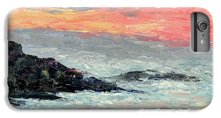 Seascape IPhone 6 Plus Case featuring the painting California Coast by Gail Kirtz