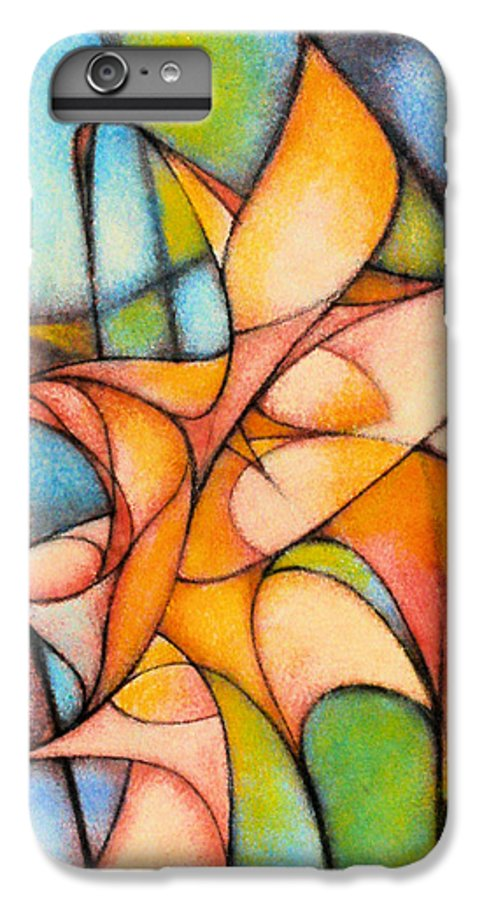 Contemporary IPhone 6 Plus Case featuring the painting Calla Lillies by Kevin Lawrence Leveque