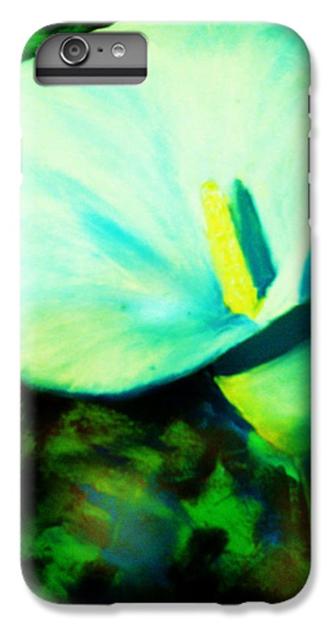 White Calla Lily IPhone 6 Plus Case featuring the painting Calla Lily by Melinda Etzold