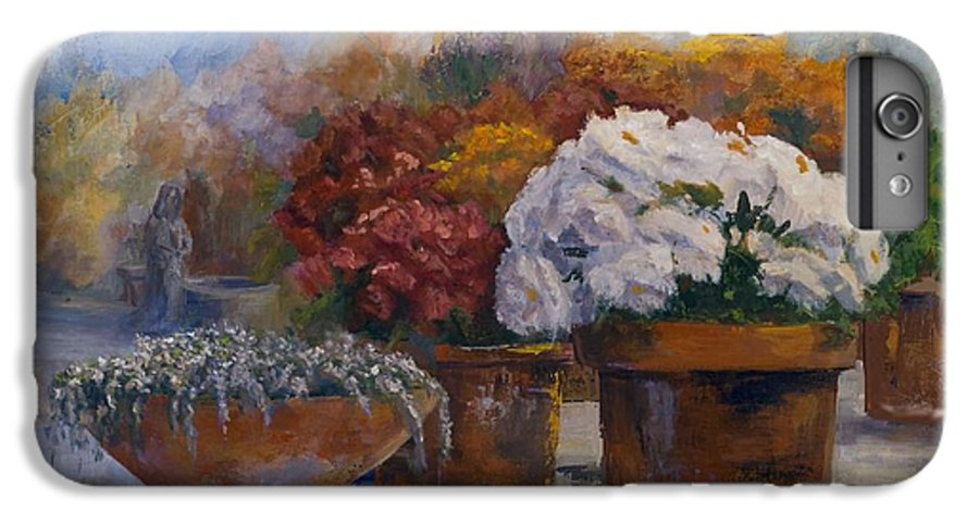 Flowers IPhone 6 Plus Case featuring the painting Calloway's Nursery by Jimmie Trotter