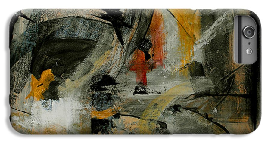 Abstract IPhone 6 Plus Case featuring the painting Calm Out Of Chaos by Ruth Palmer