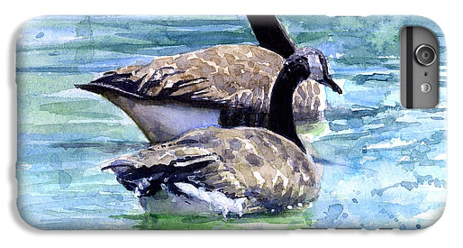 Canada IPhone 6 Plus Case featuring the painting Canada Geese by John D Benson
