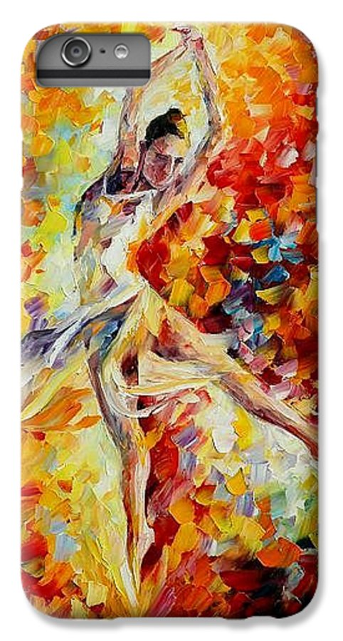 Danse IPhone 6 Plus Case featuring the painting Candle Fire by Leonid Afremov