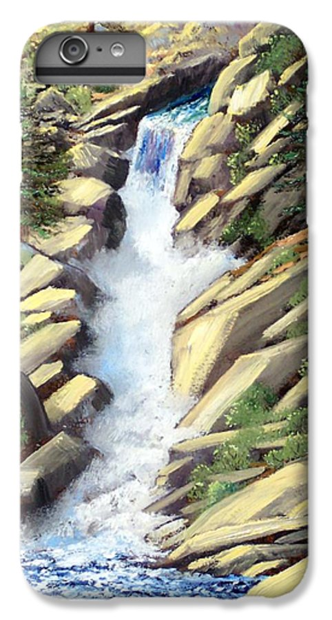 Landscape IPhone 6 Plus Case featuring the painting Canyon Falls by Frank Wilson