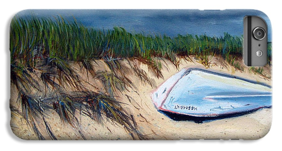 Boat IPhone 6 Plus Case featuring the painting Cape Cod Boat by Paul Walsh