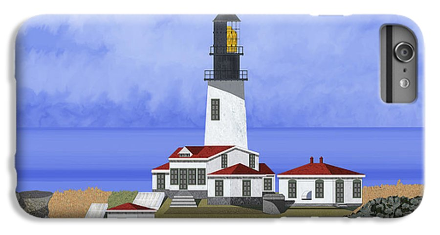 Seascape IPhone 6 Plus Case featuring the painting Cape Flattery Lighthouse On Tatoosh Island by Anne Norskog