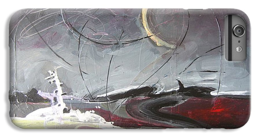 Abstract Paintings IPhone 6 Plus Case featuring the painting Cape St. Mary by Seon-Jeong Kim