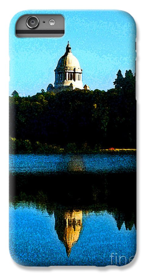 Lake IPhone 6 Plus Case featuring the photograph Capital Lake by Larry Keahey